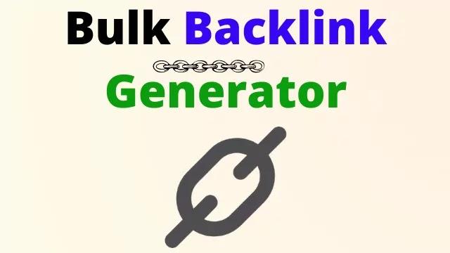 free backlink generator website