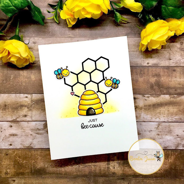 Sunny Studio Stamps: Just Bee-cause Customer Card by Beata June