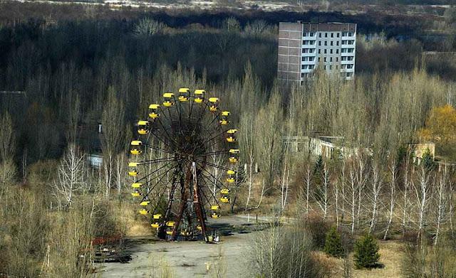 Chernobyl hoje e uma cidade abandonada.