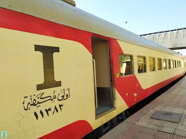Tren local en Egipto