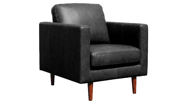 Rivet Revolve Modern Leather Armchair