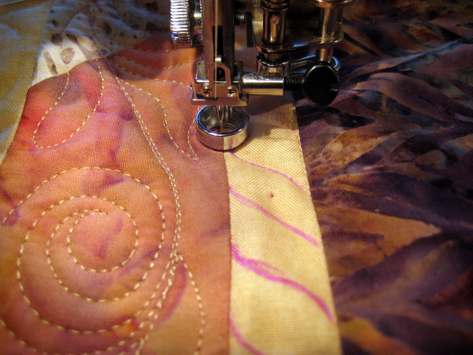 marking a free motion quilting design