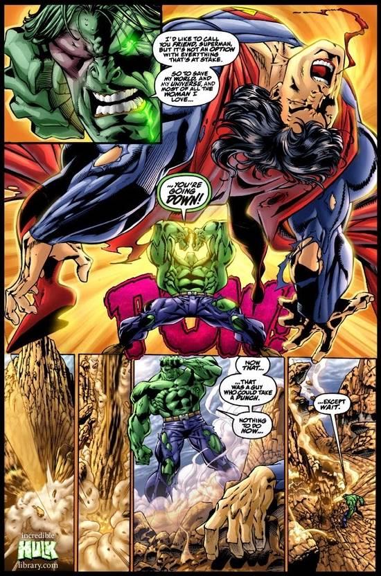 Superman vs Hulk cómic