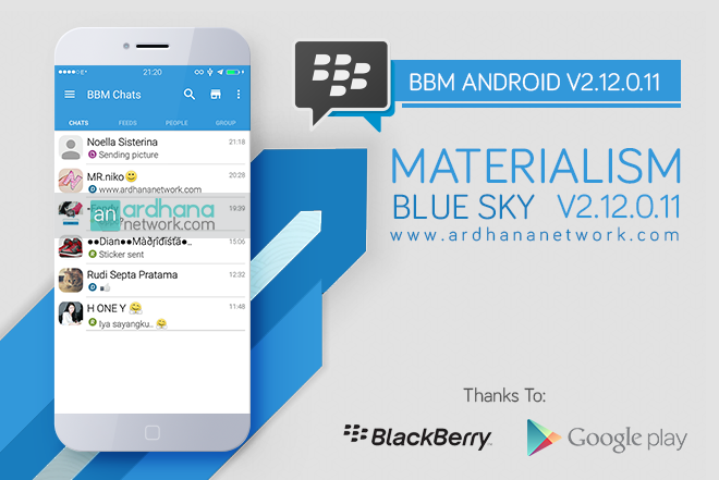 BBM Materialism Blue V2.12.0.11 - BBM Android V2.12.0.11