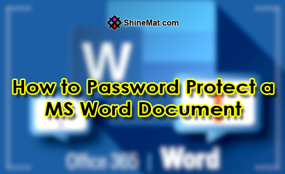 How to Password Protect a Word Document - ShineMat.com