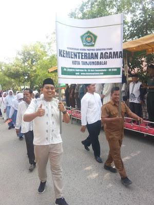 Semarak MTQN Ke-52, Kemenag Tanjungbalai Ikuti Pawai Ta'aruf