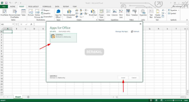 Insert Add-in di Excel 2013
