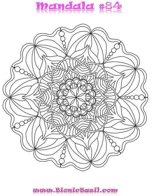 Mandalas on Monday #84 ©BionicBasil®  Colouring With Cats