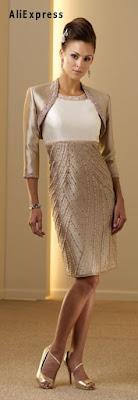 Vestido para madre de la novia en shantung