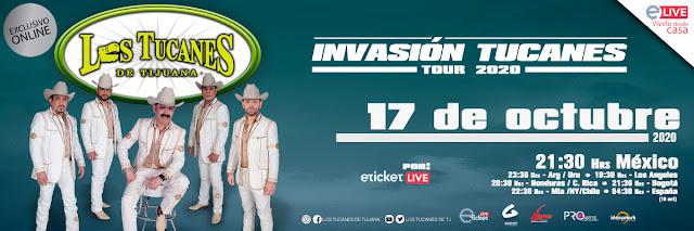 """Los Tucanes de Tijuana presentarán """"Invasión Tucanes Tour 2020"""" en streaming"""