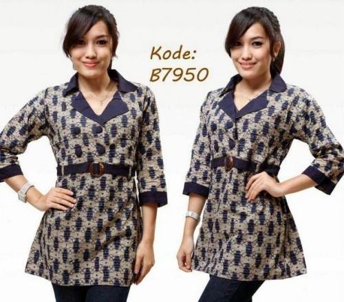 Desain Baju Batik Unik: 20 Desain Baju Batik Kantor 2018 Yang Paling Diminati