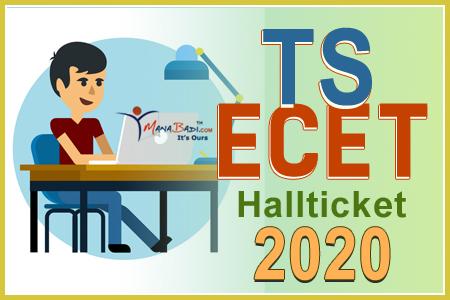 Telangan ECET Halltickets 2020
