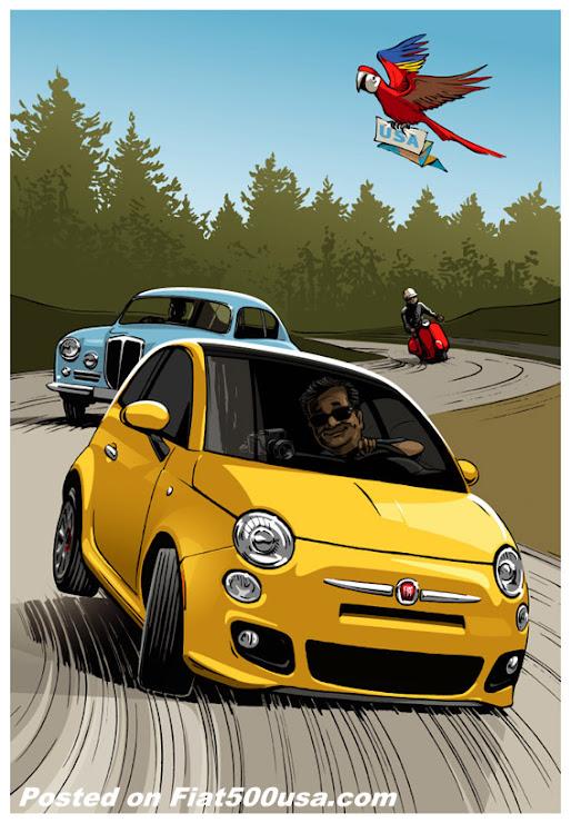 Fiat Across America Art