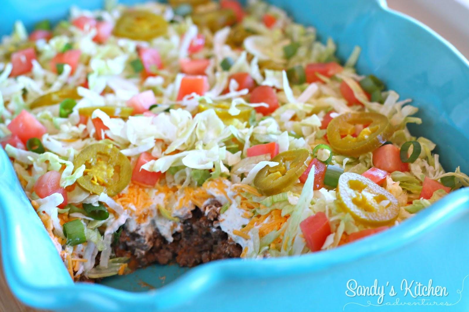 Meaty Taco Dip Sandy S Kitchen