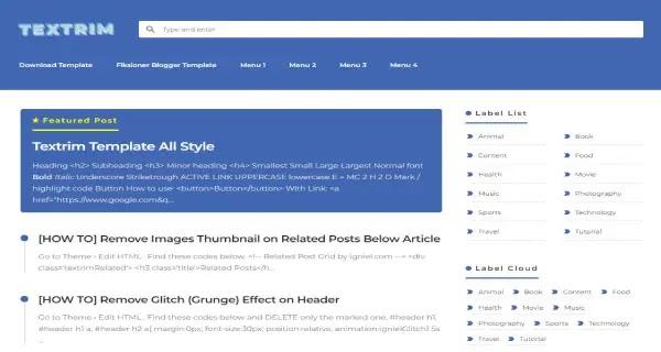 download template blog seo friendly terbaik