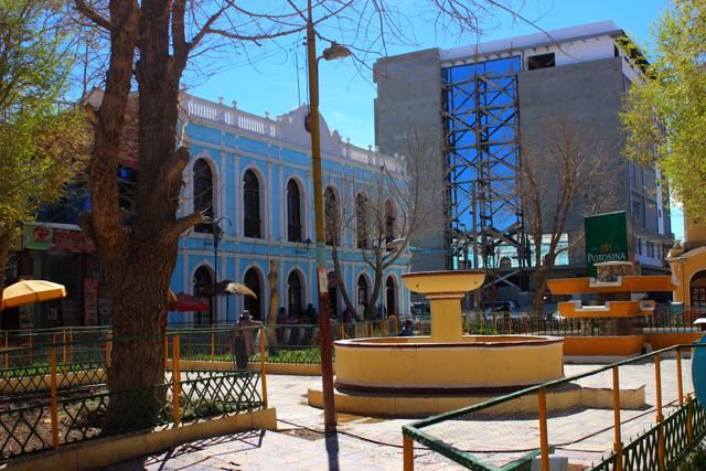 El centro de la localidad de Uyuni