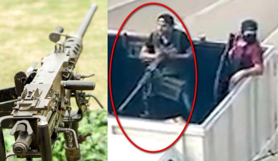 """La poderosa """"Browning M2"""" la ametralladora que usaron los sicarios del Cartel de Sinaloa para humillar a las autoridades mexicanas"""