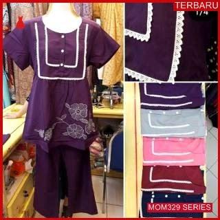 MOM329B21 Baju Setelan Hamil Renda Menyusui Bajuhamil Ibu Hamil