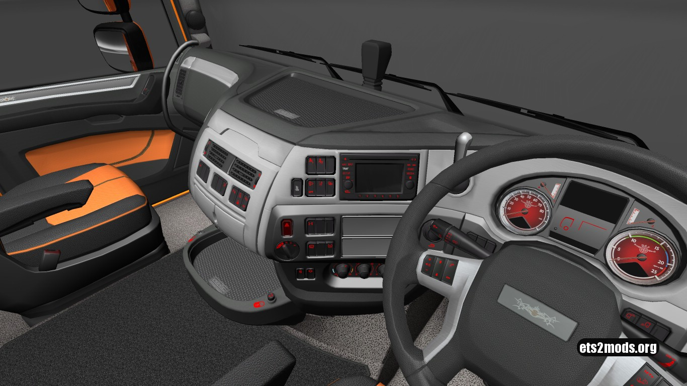 Red Dashboard Lights for DAF Euro 6