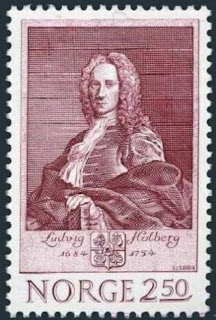 Norway Ludvig Holberg 1684-1754,writer,1984