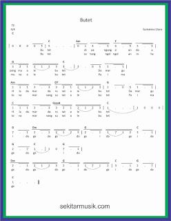 not angka butet lagu daerah sumatera utara