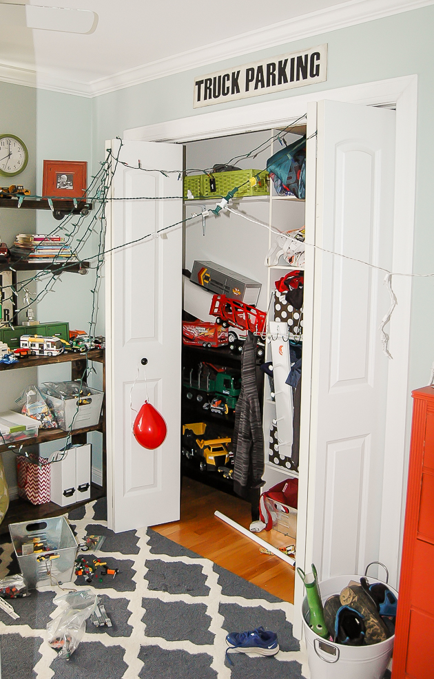 Real life, messy kids room