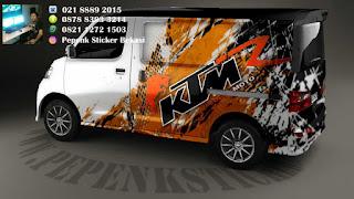 Sticker mobil luxio KTM