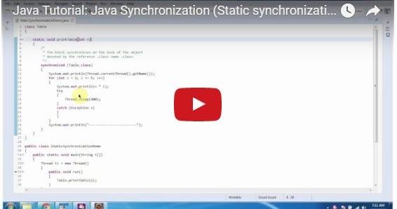 Java ee java tutorial java synchronization static for Pool design pattern java