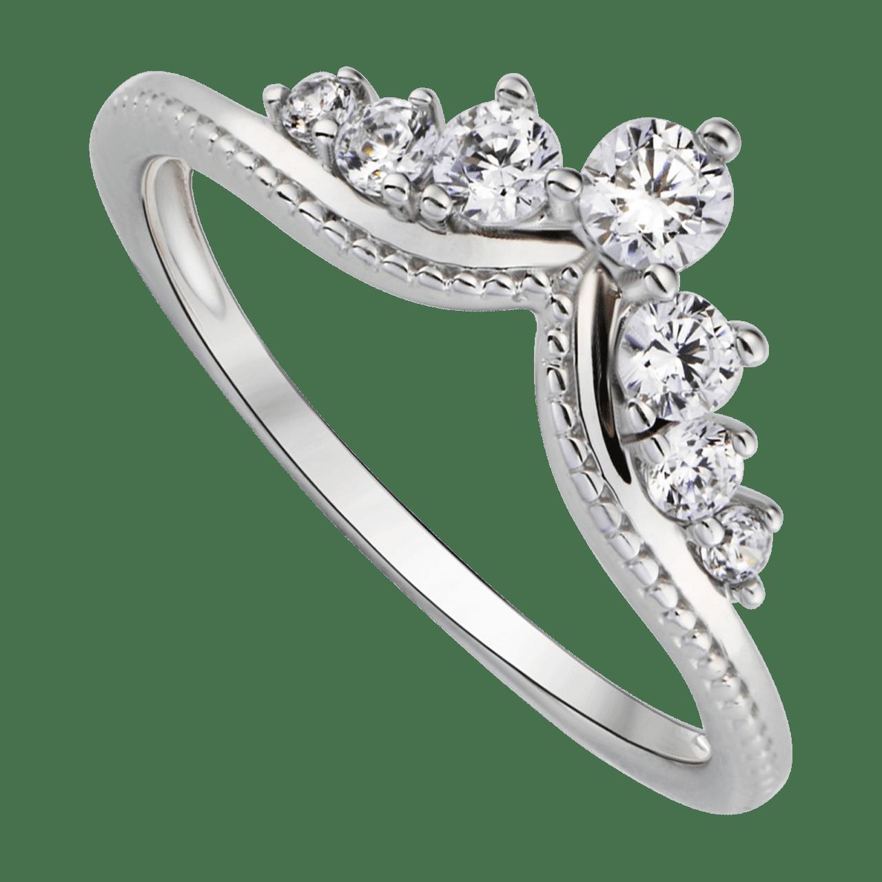 Nhẫn bạc đính đá PNJSilver Wanderlust hình vuơng miện XMXMK000189
