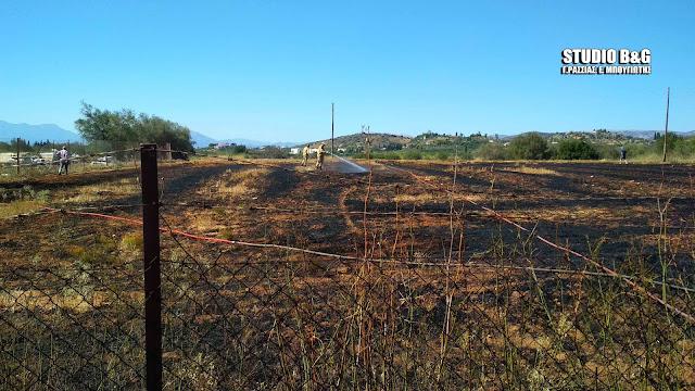 Πυρκαγιά σε αγροτική έκταση στο Ναύπλιο