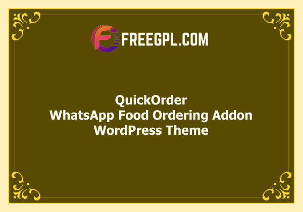 QuickOrder - WhatsApp Food Ordering Addon Free Download