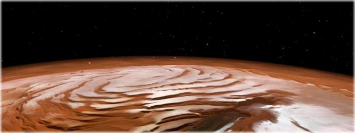 Marte também tem calotas polares igual a Terra - Como isso é possível