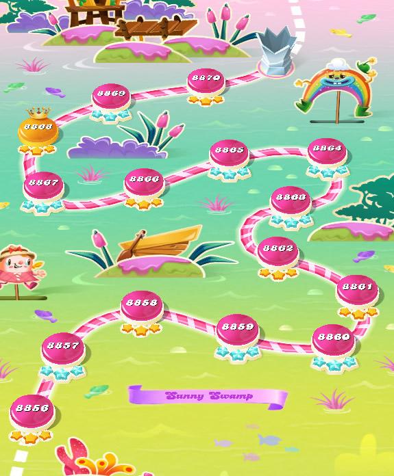 Candy Crush Saga level 8856-8870