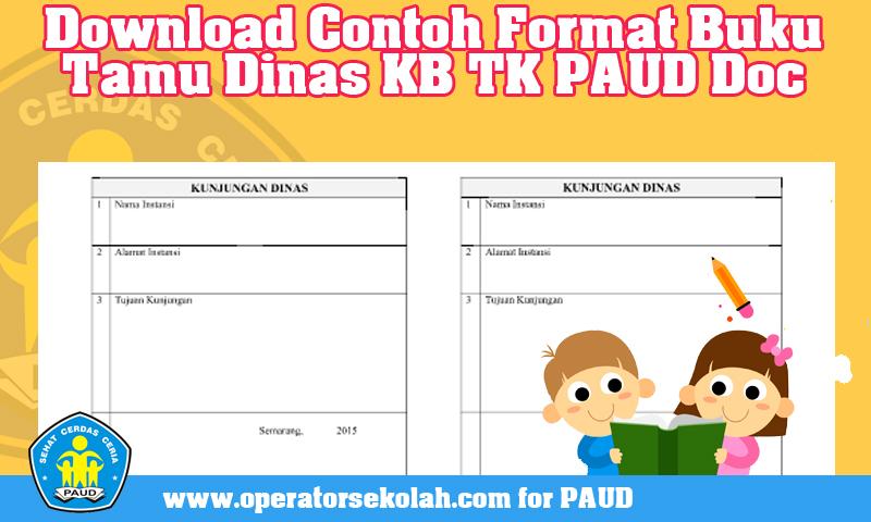 Download Contoh Format Buku Tamu Dinas Kb Tk Paud Doc