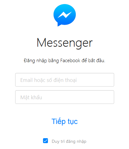 Sử dụng Facebook Messenger phiên bản web
