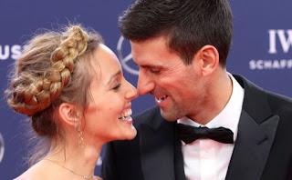Novak Djokovic And Wife C Jelena Djokovic