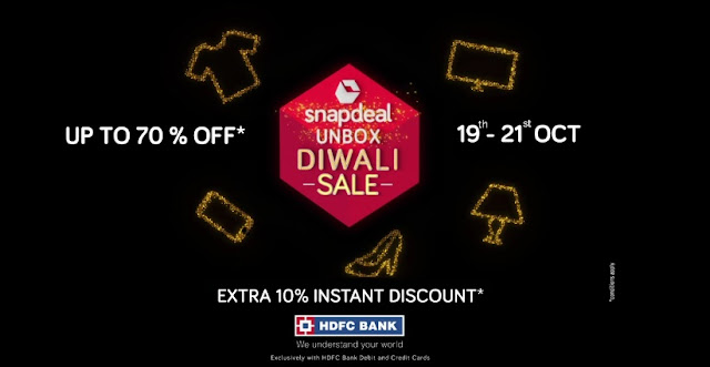 Snapdeal Unbox Diwali Sale! 19th to 21st October