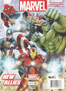 Back Cover of Marvel Jumbo Coloring & Activity Book: New Allies