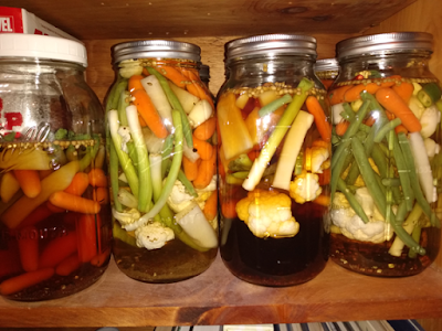 My various pickle blend samples