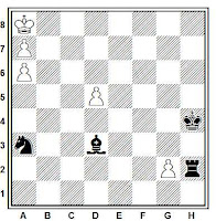 Estudio artístico de ajedrez de A. P. Kazantzev, primer premio, Moscow Sports Committee Ty Bulletin, 1986.