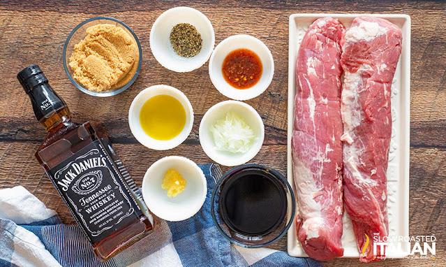 Ingredients for smoked pork tenderloin recipe