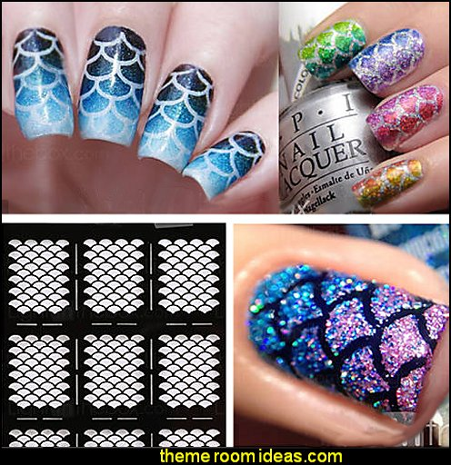 Mermaid Tail Nail Stencil