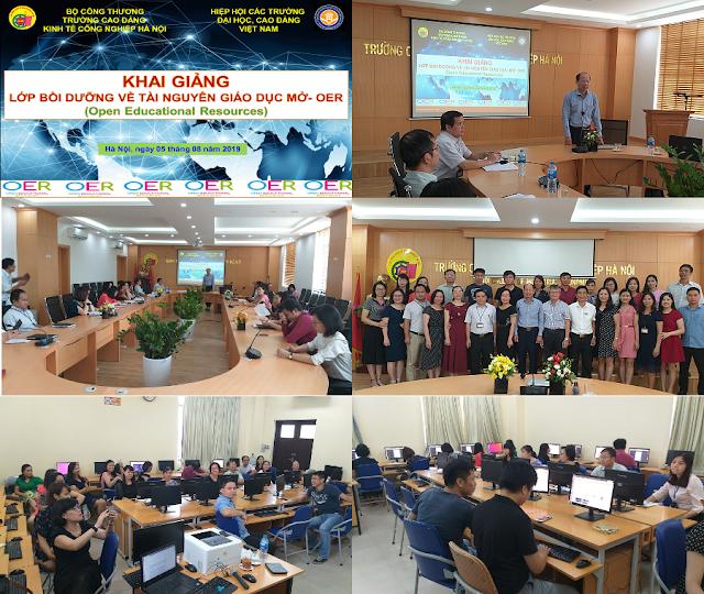 Khóa bồi dưỡng 'Thực hành khai thác tài nguyên giáo dục mở' ở trường Cao đẳng Kinh tế Công nghiệp Hà Nội