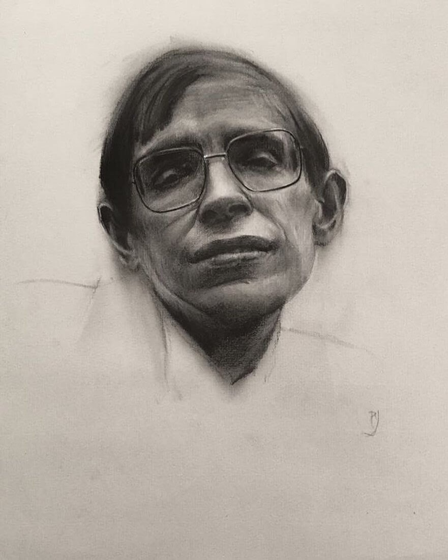 07-Stephen-Hawking-Rick-Young-Celebrity-and-More-Charcoal-Portraits-www-designstack-co