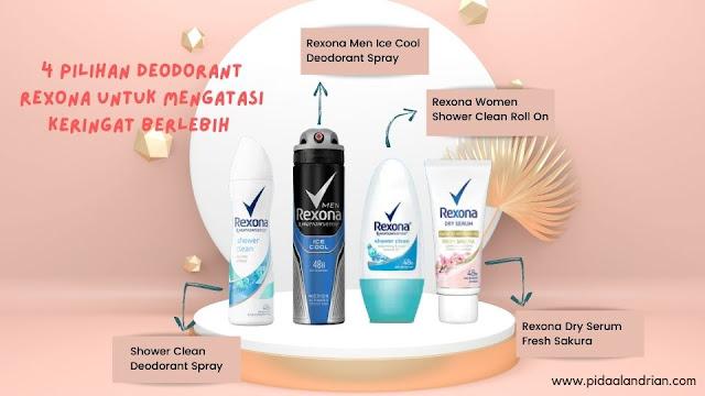 Atasi keringat dengan deodorant rexona