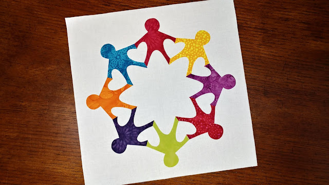 Paper Chain Family quilt block