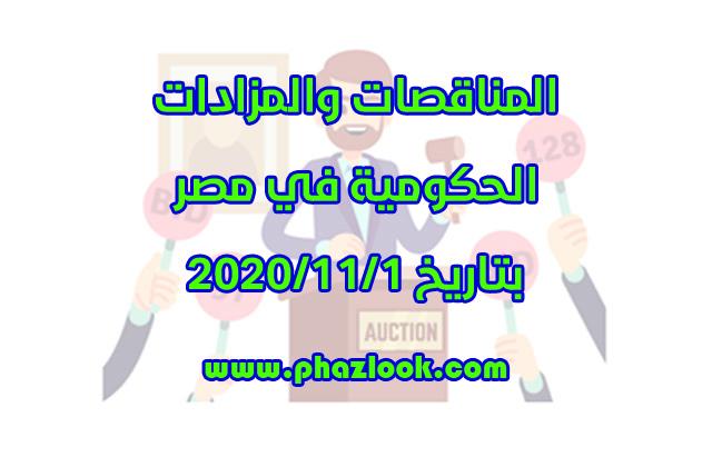مناقصات ومزادات مصر في 2020/11/1