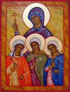 Sts. Sophia and her Three Daughters Faith,  Hope and Love (Feast Day - September 17)