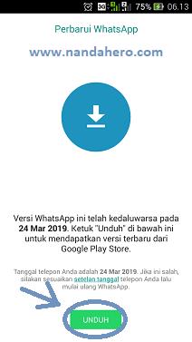 Memperbarui aplikasi GB WhatsApp, Yo WhatsApp dan Fouad WhatsApp