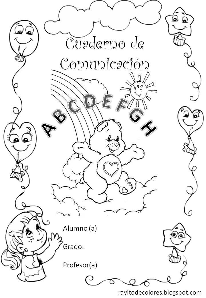 Carátula para cuaderno de Comunicación